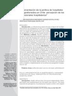 implementacion politica de la salud en chile