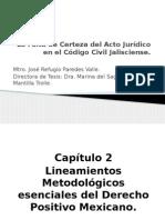 La Falta de Certeza Del Acto Jurídico, José R. Paredes