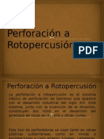 Perforación a Rotopercusión Con Martillo en Cabeza111