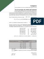 Comparacion o Prueba de Rangos Multiples