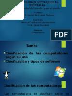Clasificacion de Las Computadoras y Software