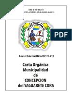 Carta Organica Concepción (Corrientes) 2012