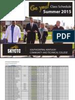 SKYCTC Summer 2015 4152 Class Schedule 3 2 15 2