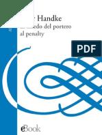 El Miedo Del Portero Al Penalty Peter Handke