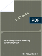 Personality FROM IITKGP
