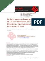 EL TRATAMIENTO INTERDISCIPLINAR DE LO ECO-SOSTENIBLE EN LA ENSEÑANZA SECUNDARIA