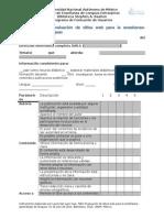Instrumento y parámetros para evaluación de sitios web especializados