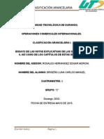 Ensayo de Las Notas Explicativas de Las Secciones i y II