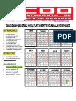 Calendario 2015 Ayto Alcala de Henares