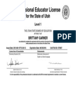 utah teaching license
