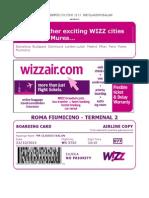 Wizzair Boarding Mr Claudiu Balan