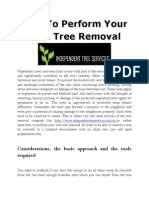 How to Perform Your Own Tree Removal
