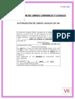 Autorización de Libros de IVA y Contabilidad