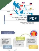 Framework for ASEAN 2015 a Roadmap for Schools Dr John Addy Gar (1)