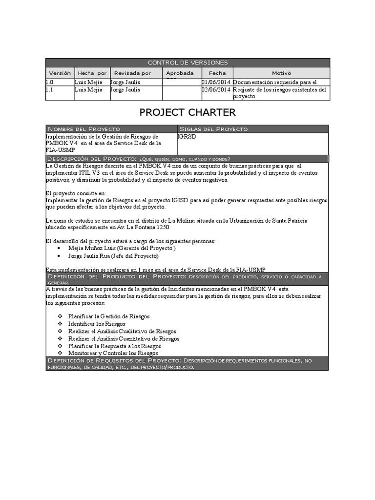 01 Plantilla Project Charter