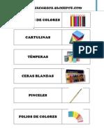 Etiquetas Para Material Del Aula