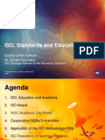 ISO Standards and Education