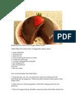 Resepi Kek Coklat Sheila Rusly