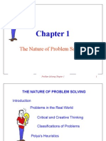 Chapter 1 the Nature of Problem Solving