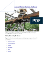 11 Major Causes of Power System Failures