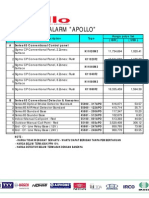Price List Apollo