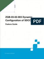 GERAN UR13 ZGB-03!02!003 Dynamic Configuration of SDCCH Feature Guide (V4)_V1.0