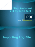 Step by Step Assistant 2.3 for MOS Test