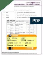 A Train Timetable