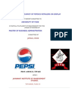 21524210 Market Survey of PepsiCo Retailers on Display Effectiveness