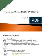 01 JarkomL Review IP