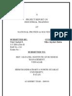 Project Report [Snehal]