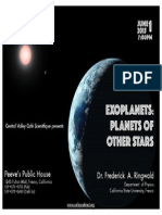 Planets of Other Stars - June 2015 Valley Café Scientifique event