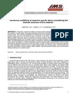 Modelización Numérica de Las Presas de Gravedad de Mampostería Teniendo en Cuenta La Estructura Interna Del Material
