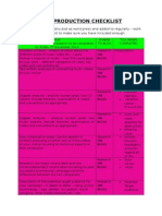 Practical Production Checklist