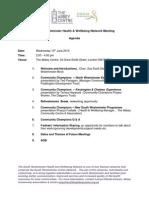 SW Health & Wellbeing Network Meeting - Agenda 10 June 2015
