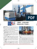 ERKE - SOILMEC Müşteriler Günü, Şantiye Dergisi Mayıs 2015, Www.erkegroup.com