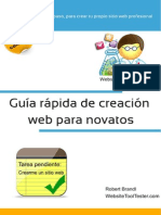 Guía de Creacion Web Para Novatos Spanish