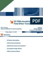 FEM Simulation of 2d MOSFET