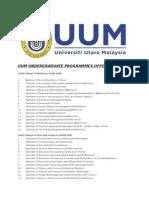 Uum Undergraduate Programmes Offered