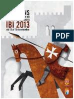2013 - Libro Oficial de Fiestas de Moros y Cristianos de Ibi