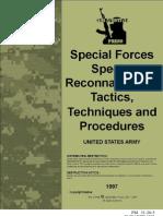 US Army FM 31-20-5 - Special Forces Special Reconnaissance Tactics, Techniques and Procedures - March 1993