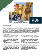 Rosario y Procesión de Nuestra Fatima 2015