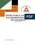 Atps Estrutura Estrutura e Analisa das Demonstrações Financeiras