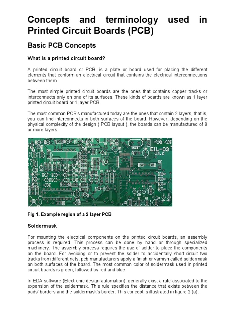 Concepts And Terminology Used In Printed Circuit Boards Pcb Buy Boardspcb Board Electronic Circuits