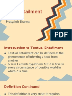 Recognizing Text Entailment - Tutorial
