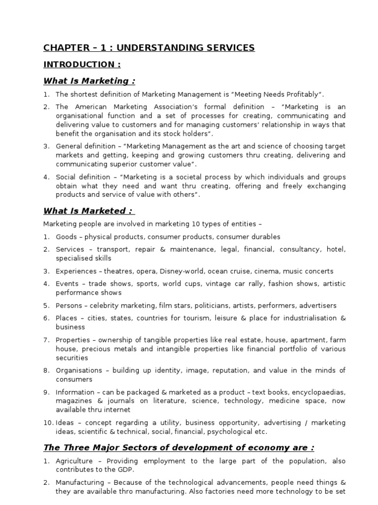 services marketing 1 introduction nature of services marketing