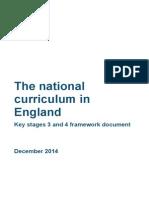 secondary national curriculum