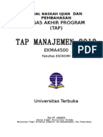 2013 Contoh Soal TAP Manajemen