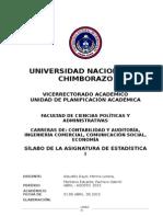Silabo_de_estadistica i Conjunto Carreras de La Facultad Abril 2015