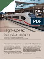 High-speed transformation